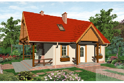 125 LMP 68 - design for 40 m2 small houses