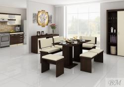 BOND КОМПЛЕКТ ДЛЯ СТОЛОВОЙ 1 - Польша - MEBLOCROSS - Кухонные уголки - Мебель для столовой