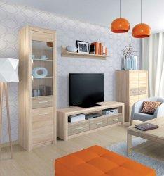 CASTEL 2 секция - Секции для гостинной Модерн - Секции, Витрины, Полки