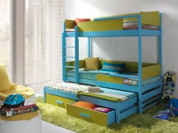 QUATRO 3 трехъярусная кровать выдвижная - Кровати трехъярусные - Детская комната