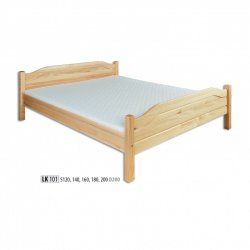 LK101 wooden bed - Poland - Drewmax - Wooden beds - Bedroom