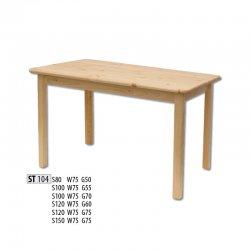 ST104 деревянный стол 120/75 - Деревянные столы - Столы и комплекты