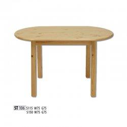 ST106 овальный деревянный стол 115 - Польша - Drewmax - Круглые столы - Столы и комплекты