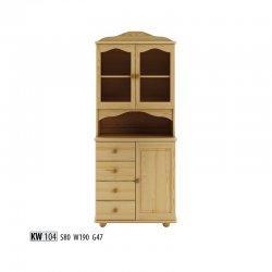 KW104 витрина - Польша - Drewmax - Буфеты - Мебель для столовой