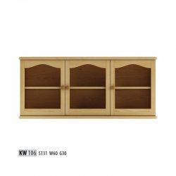 KW106 витрина - Польша - Drewmax - Настенные навесные шкафчики - Секции, Витрины, Полки