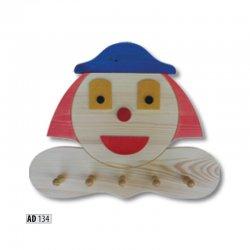 AD134 вешалка клоун - Польша - Drewmax - Вешалки для одежды - Детская комната