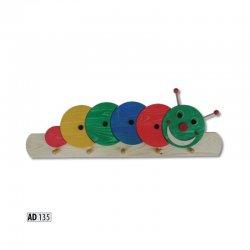 AD135 вешалка гусеница - Вешалки для одежды - Детская комната