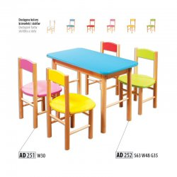 AD252 kids table - Poland - Drewmax - Baby tables - Childrens room