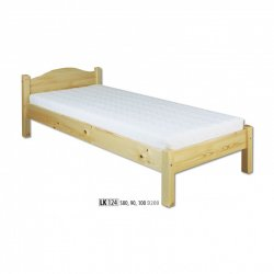LK124 wooden bed - Poland - Drewmax - Wooden beds - Bedroom