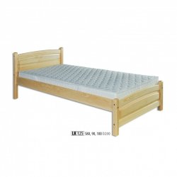 LK125 wooden bed - Poland - Drewmax - Wooden beds - Bedroom