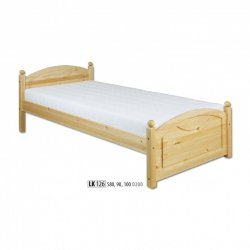 LK126 wooden bed - Poland - Drewmax - Wooden beds - Bedroom