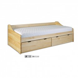 LK130 wooden bed - Poland - Drewmax - Wooden beds - Bedroom
