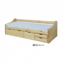 LK131 wooden bed - Poland - Drewmax - Wooden beds - Bedroom