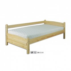 LK132 wooden bed - Poland - Drewmax - Wooden beds - Bedroom