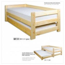 LK134 двухъярусная деревянная кровать выдвижная - Кровати двухъярусные - Детская комната