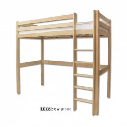Drewmax - LK135 divstāvu koka gulta - Polija