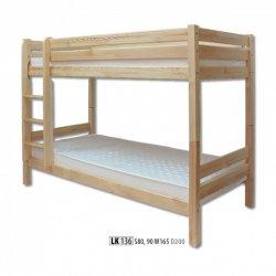 LK136 двухъярусная деревянная кровать - Кровати двухъярусные - Детская комната