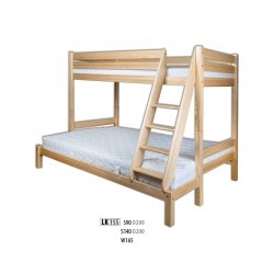 LK155 двухъярусная деревянная кровать - Кровати двухъярусные - Детская комната