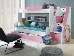 SEGAN двухъярусная детская кроватка со шкафчиками