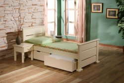 MEBLObed - Oktawia single bed classical with 2 boxes - Poland