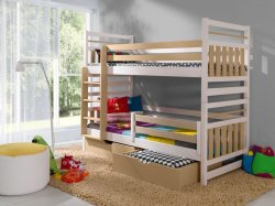 Ziper bunk bed with 2 boxes - Poland - MEBLObed - Bunk beds - Childrens room