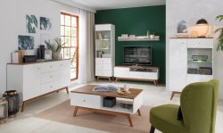Modernās viesistabas > Sekcijas, Vitrīnas, Plaukti