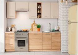 LENA бежевая модульная кухня - Модульные кухни, индивидуальные - Кухни модульные
