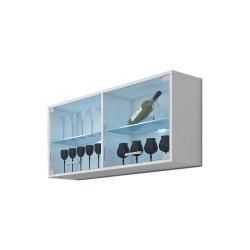 Magic Mag-07 настенная витрина - Польша - MEBLOCROSS - Настенные навесные шкафчики - Секции, Витрины, Полки