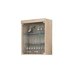 MAX Max-06 настенная витрина - Польша - MEBLOCROSS - Настенные навесные шкафчики - Секции, Витрины, Полки