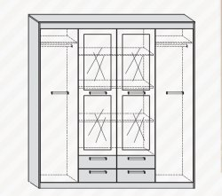 Maximus Mxs-05 гардероб 3D2S шкаф для одежды в коридор