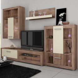 VIKI wall unit - Poland - MEBLOCROSS - Modern wall units - WALL, UNITS, Showcases