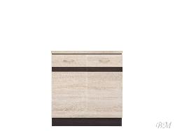 Нижний шкафчик JUNONA LINE - D2D/80/82 - Польша - Black Red White ( BRW ) - Нижние шкафчики - Кухни модульные