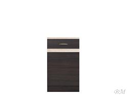 Нижний шкафчик JUNONA LINE - D1D/50/82 - Польша - Black Red White ( BRW ) - Нижние шкафчики - Кухни модульные