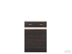 Нижний шкафчик JUNONA LINE - D2D/60/82 - Польша - Black Red White ( BRW ) - Нижние шкафчики - Кухни модульные