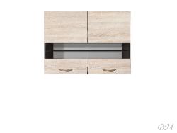 Верхний шкафчик JUNONA LINE-G2W/80/57 - Польша - Black Red White ( BRW ) - Верхние шкафчики - Кухни модульные