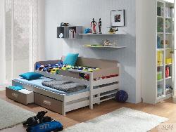 DOIS двухъярусная Детская деревянная кровать с барьером выдвижная - Кровати двухъярусные - Детская комната