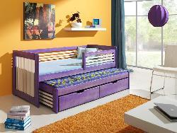 Детская деревянная кровать Anatol выдвижная Детская комната на двоих Кровати двухъярусные