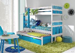Трехместная детская кровать MAKSYMILIAN - Кровати трехъярусные - Детская комната