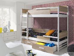 TRES двухъярусная высокая Детская деревянная кровать с барьером - Кровати двухъярусные - Детская комната