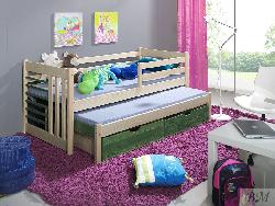 Детская деревянная кровать Szymon выдвижная - Кровати двухъярусные - Детская комната