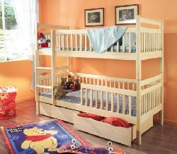 Детская комната на двоих Кровати двухъярусные Детская деревянная кровать Aleksander