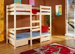 Детская комната на двоих Кровати двухъярусные Детская деревянная кровать Bartosz