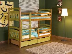 Кровати двухъярусные Детская деревянная кровать Jakub II Детская комната на двоих