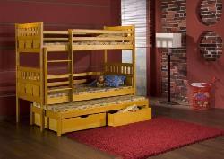 Maksymilian трехъярусная кровать выдвижная деревянная - Кровати трехъярусные - Детская комната