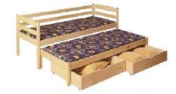 Детская деревянная кровать Marcin выдвижная Детская комната на двоих Кровати двухъярусные