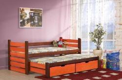 Кровати двухъярусные Детская комната на двоих Детская деревянная кровать Mateusz выдвижная