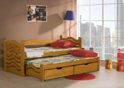 Детская комната на двоих Кровати двухъярусные Детская деревянная кровать Mikolaj выдвижная