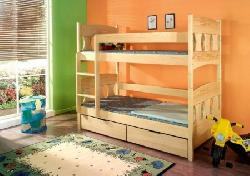 Детская комната на двоих Кровати двухъярусные Детская деревянная кровать Wiktor
