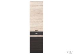 Шкафчик JUNONA LINE-D2D/50/195 - Польша - Black Red White ( BRW ) - Нижние шкафчики - Кухни модульные