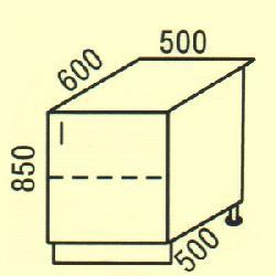 D-11 - Польша - PL - Типовые нижные шкафчики - Кухни модульные
